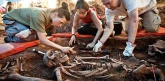 Soria, trabajos de recuperación de restos en la «fosa de los maestros»