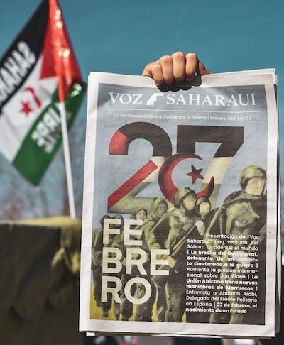Ejemplar del número cero de Voz Saharaui.