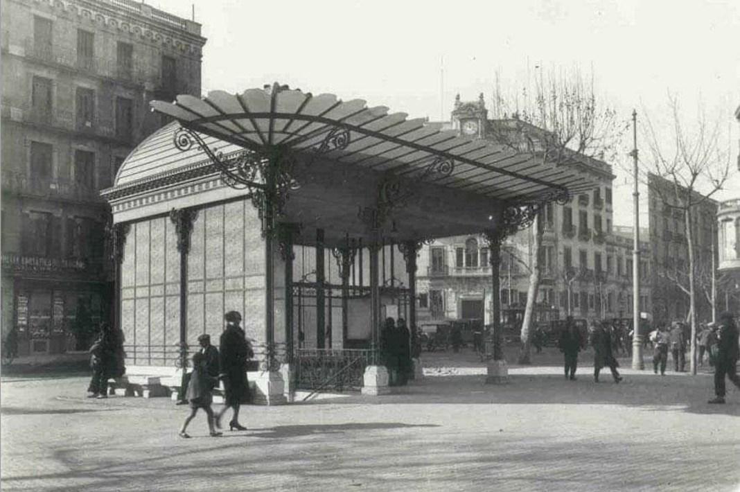 Antiguo templete para el Metro Red San Luis (Gran Vía) de Antonio Palacios
