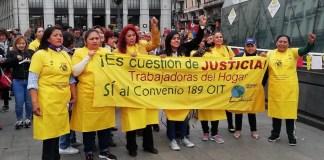 Trabajadoras del hogar: protestas por su situación laboral en Madrid, marzo de 2019