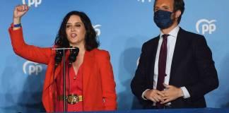 Isabel Díaz Ayuso con Pablo Casado el 4MAY2021