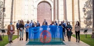 Gitanos ante el Parlamento de Andalucía 23JUN2021