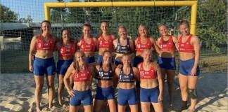 jugadores noruegas de voleibol playa