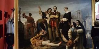 Traslado del cuadro «Ejecución de los Comuneros de Castilla»