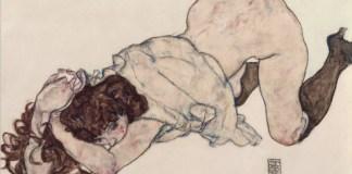 Egon Schiele desnudo de mujer