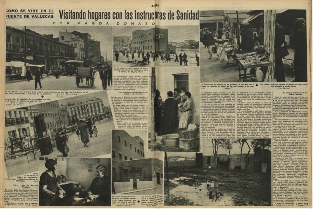 Magda Donato, reportaje en Ahora sobre Vallecas