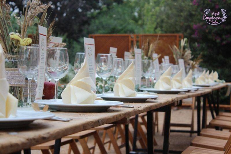 decoracion boda otoñal con manzanas