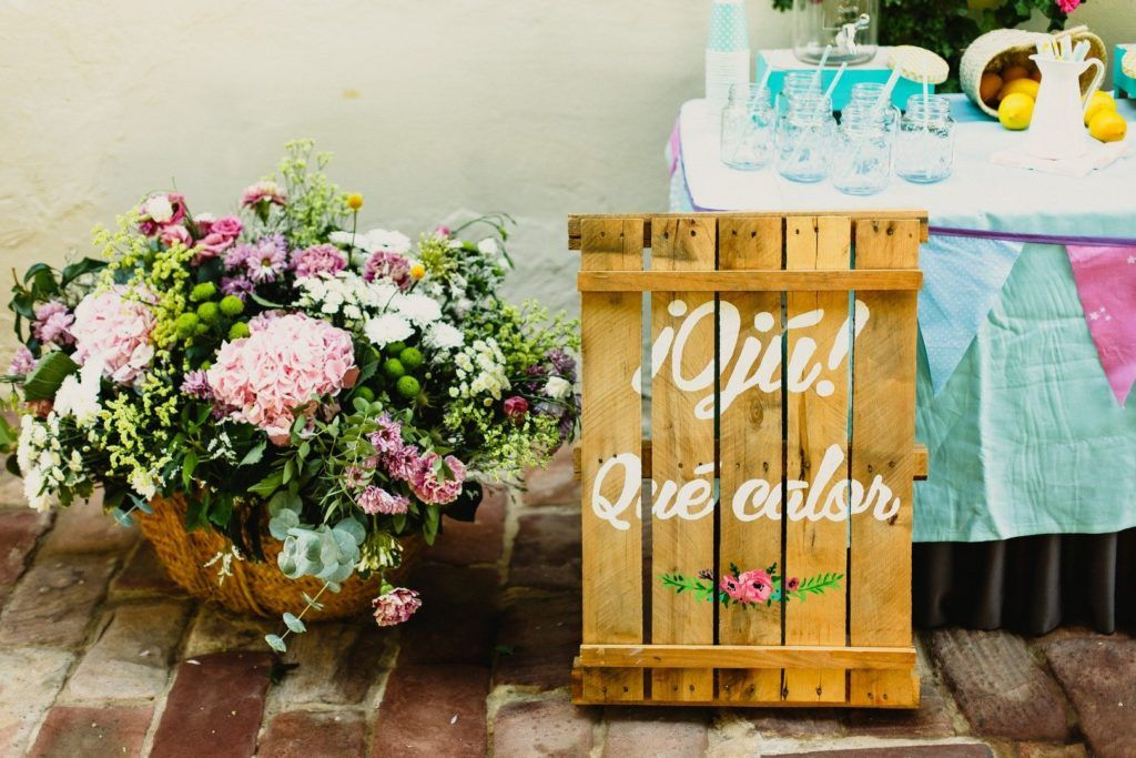mesa limonada boda cartel