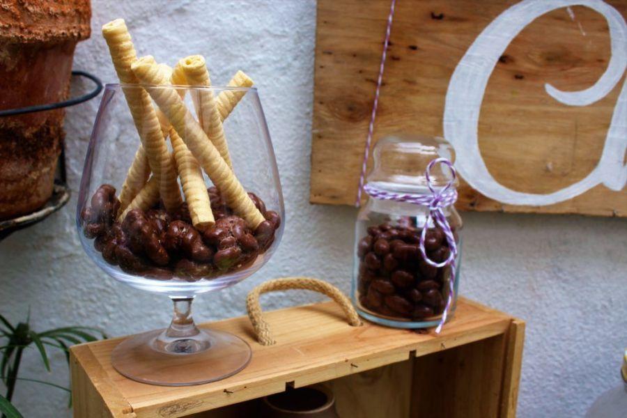 chocolate caliente boda barquillos mesa boda cocoa hot bar wedding