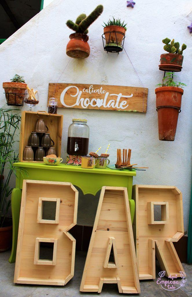 wedding table bar cocoa hot