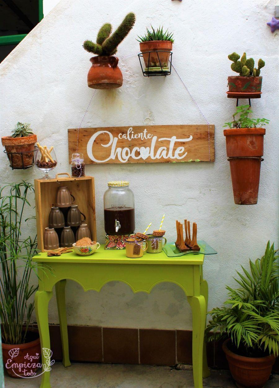 Mesa chocolate caliente