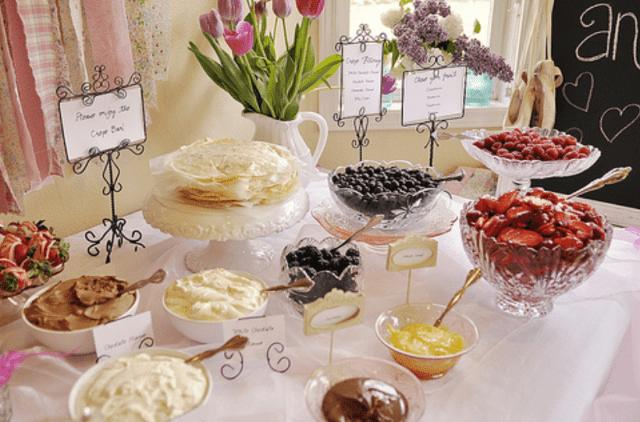 Mesa de creps boda