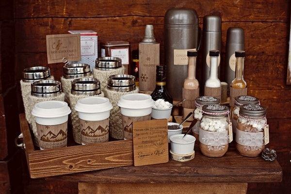 Mesa de café y chocolate boda