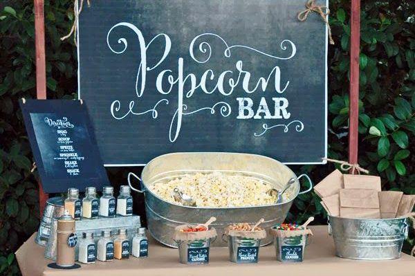 Popcorn Bar boda
