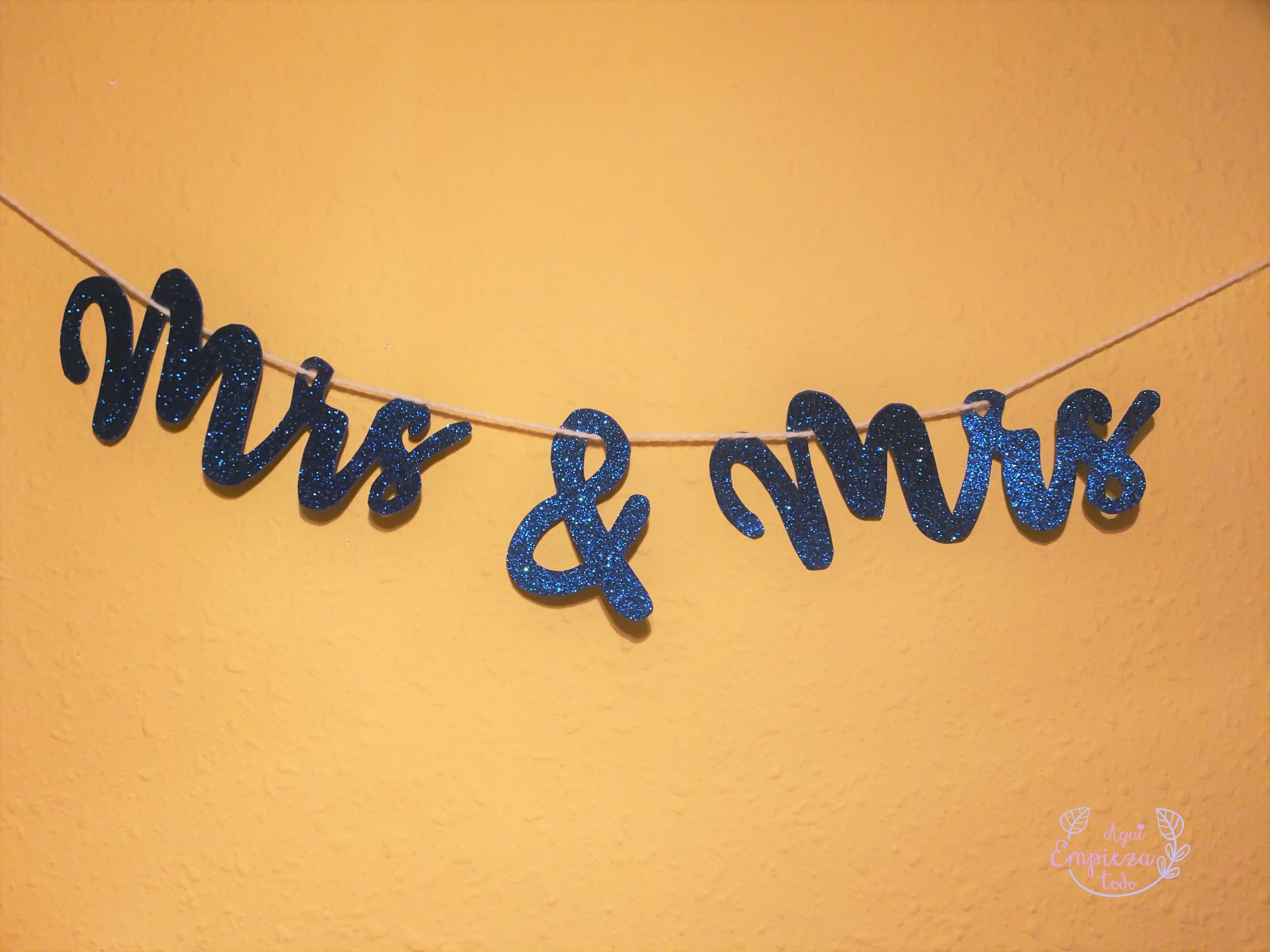 DIY Letreros Mr and Mrs