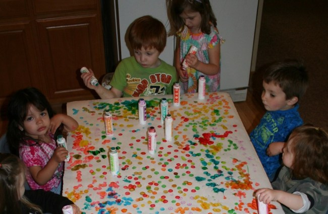 Group Art for children at A Quiet Forest Daycare and Preschool