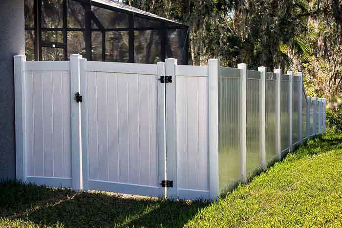 a fence with mass loaded vinyl