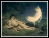 """Selene (AKA Artemis) and Endymion"" by Victor Florence Pollet (mid-19th century)."