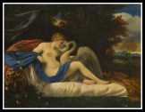 """Leda and the Swan"" by Pier Francesco Mola. (1650)."