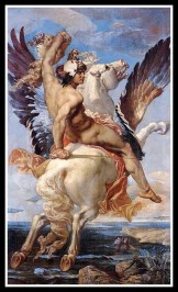 """Perseus riding Pegasus"" by Paul Joseph Blanc. 19th century. Perseus was Andromeda´s savior and beloved."