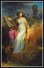 """Calliope"" (Muse of Epic Poetry), by Charles Meynier. 1790s."
