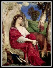 """Euterpe"" (Muse of Music and Lyric Poetry) by Arnold Bocklin. 19th century."