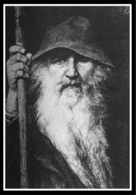 """Odin the Wanderer"", by Georg von Rosen. 1895."