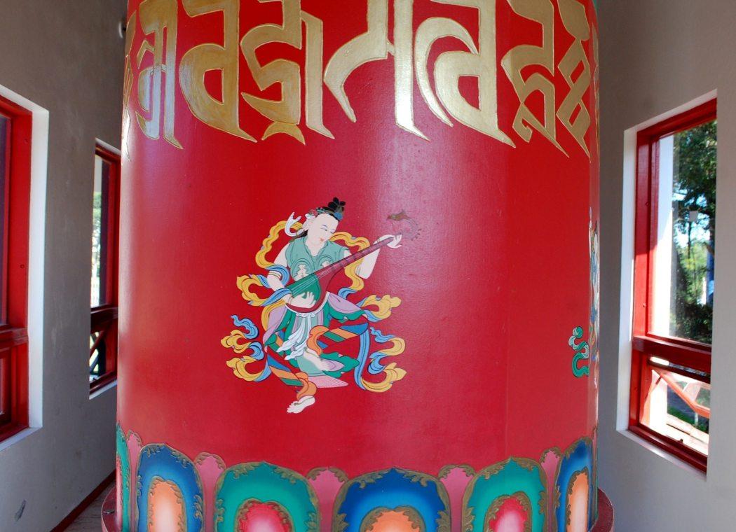 templo tibetano detalhe roda