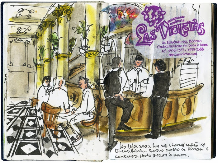urban sketchers las violetas