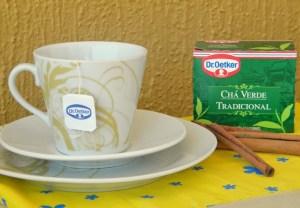 receita de chá detox com chá verde, gengibre e canela