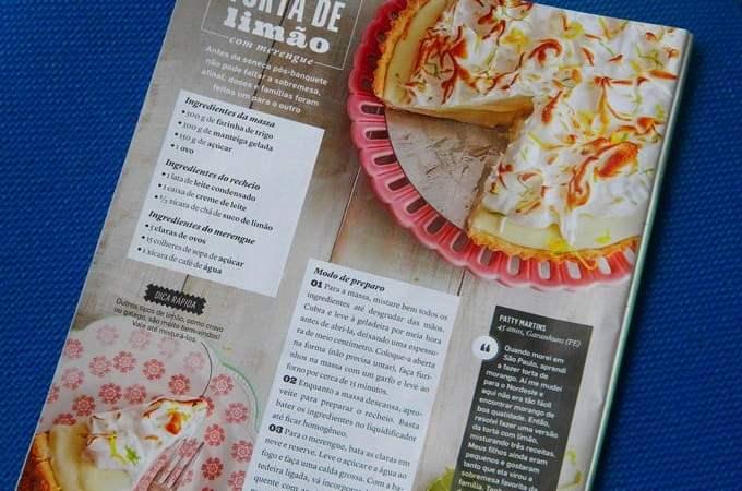 Torta de Limão da Patty Martins na Revista Todos