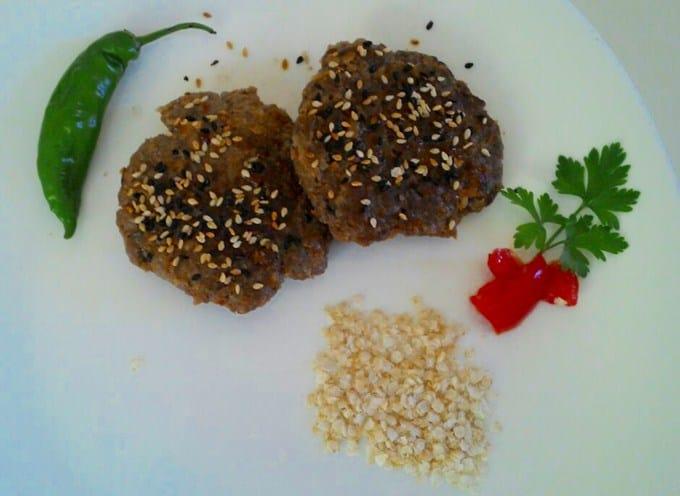 hamburguer de quinoa com carne