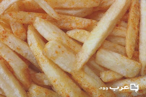 اكل البطاطا المقلية في المنام للعزباء