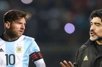 """بالصورة.. مارادونا """"يستهزئ"""" بميسي بعد الهزيمة الثقيلة"""