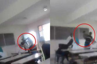 فيديو أستاذة تضرب تلميذا بحذائها يثير ضجة كبيرة