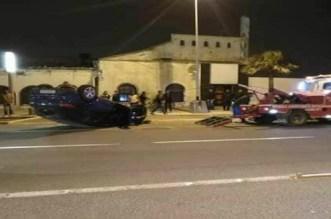 بالصور.. حادثة سير خطيرة بكورنيش عين الذئاب