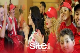 بالفيديو.. نجوم مغاربة يتابعون مباراة المنتخب الوطني