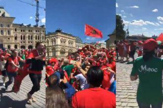 بالفيديو – المغرب ضد البرتغال.. الجماهير في الطريق إلى الملعب