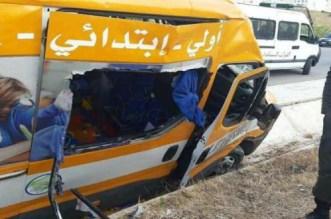 وفاة وإصابات في حادث اصطدام حافلة لنقل التلاميذ بسيارة في طنجة