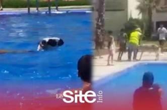 """""""الحولي السباح"""".. خروف يهرب من """"جزار العيد"""" نحو مسبح بسيدي رحال-فيديو"""