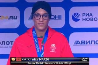 خديجة المرضي تهدي المغرب ميدالية في بطولة العالم للملاكمة
