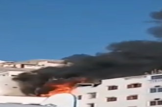حريق مهول بإقامة سياحية يثير حالة استنفار بتغازوت