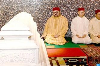 أمير المؤمنين يترأس حفلا دينيا إحياء لذكرى وفاة الملك الحسن الثاني