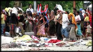 التظاهر السلمي أمام سفارة ميانمر احتجاجا على تمييزها ضد الروهينجا