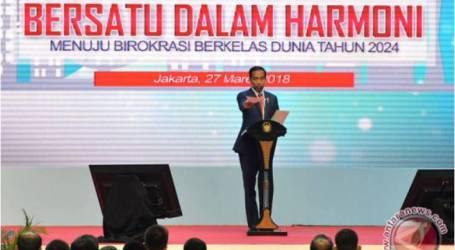الرئيس جوكو ويدودو : ستصبح إندونيسيا دولة متقدمة إذا عمل البيروقراطيون بجد