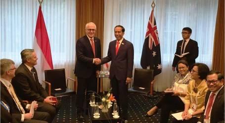 اجتماع ثنائي بين الرئيس جوكو ويدودو ورئيس الوزراء الأسترالي تيرنبول