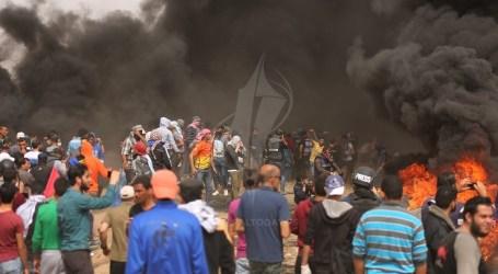 عدد المواطنين يصيب برصاص الاحتلال شرق قطاع غزة اليوم الجمعة