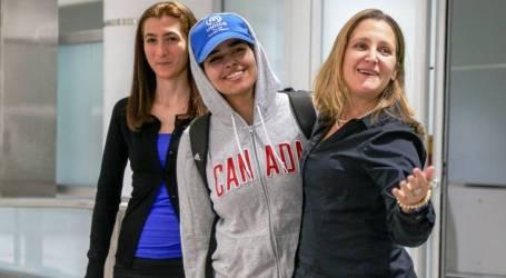 رهف تُغّرد على طائرتها لكندا: أشكر كل من أنقذ حياتي