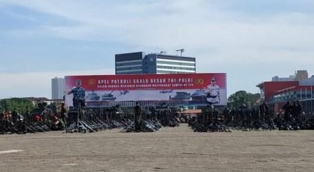حفل مشترك بين قوات الدفاع الإندونيسية والشرطة استعدادا لإجراء الانتخابات