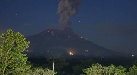بركان جبل أغونغ يثورمرة أخرى وإعلان الطوارئ